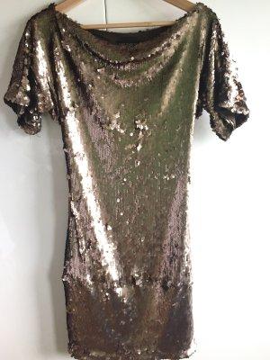 Ana Anclazar Pailletten Kleid Gold