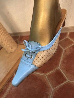 Ana Bonilla Sandalo con tacco alto crema-azzurro