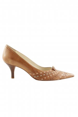 Ana Bonilla Spitse pumps bruin elegant
