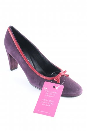 a8656bfb422 Ana Bonilla Pointed Toe Pumps dark red-purple vintage look