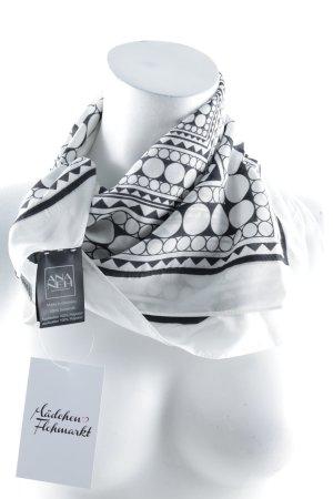 Ana Neh Zijden doek zwart-wit gestippeld patroon straat-mode uitstraling