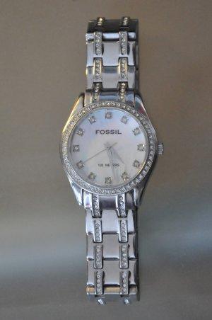 Fossil Reloj analógico color plata acero inoxidable