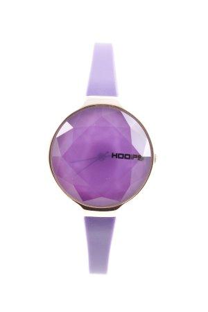 Reloj analógico lila-color oro elegante