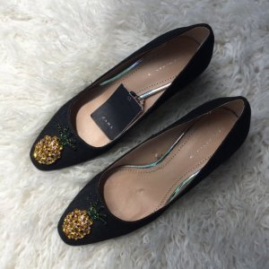 Ananas Pumps Kitten Ballerinas ZARA 38