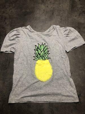 Zara T-shirt jaune-gris clair