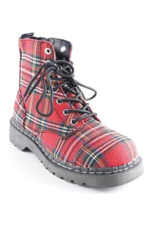 Anarchic Bottines à lacets motif Prince de Galles style mode des rues