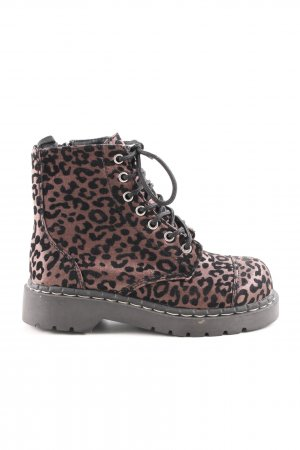Anarchic Combat Boots black-bronze-colored allover print casual look