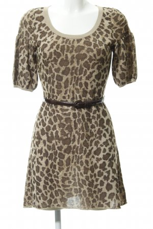 Anastacia by s.Oliver Shortsleeve Dress brown animal pattern