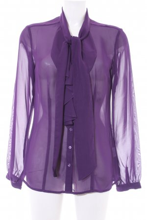 Anastacia by s.Oliver Transparent Blouse dark violet business style