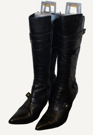 ANASTASIA STIEFEL schwarz mit Lammfell warm Gr. 38
