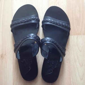 Ancient greek sandals Spartiate noir cuir