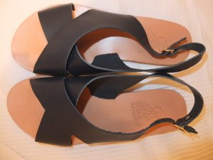 Ancient greek sandals Sandalo nero-sabbia