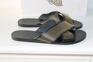 Ancient greek sandals Zapatos negro Cuero