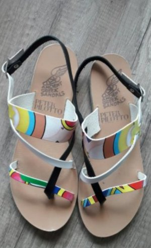 Ancient greek sandals Sandalo con cinturino e tacco alto multicolore