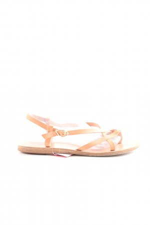 Ancient greek sandals Sandalias de tiras nude look casual