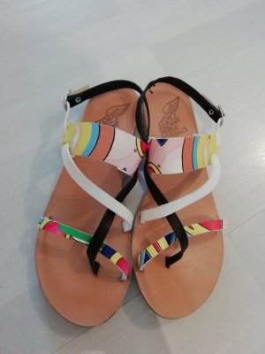 Ancient Greek Sandals Sandale Sandalen Sandalette Leder Graffiti