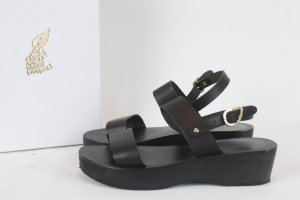 Ancient greek sandals Sandalo con cinturino nero Pelle