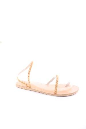 Ancient greek sandals Zehentrenner-Sandalen beige Casual-Look