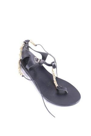 Ancient greek sandals Zehentrenner-Sandalen schwarz-goldfarben