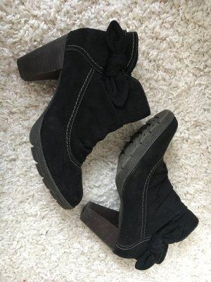 Ancle Boots Veloursleder blau (Gr.39)