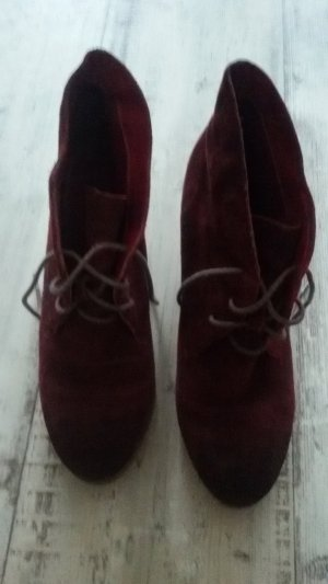 3 Suisses Ankle Boots bordeaux suede