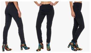 Ancora Hose mit Reißverschluss sowie Raffung & Doppelsteppung an hinteren Beinenden