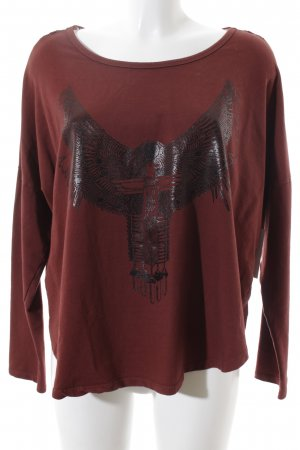 Ancora Longsleeve dark red themed print street-fashion look