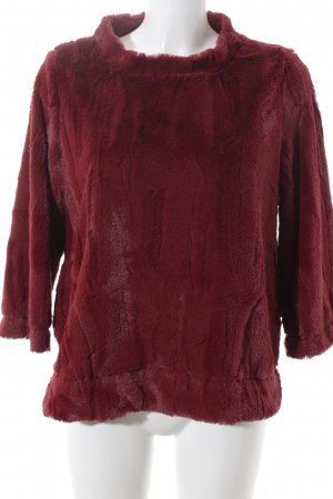 Ancora Crewneck Sweater raspberry-red fluffy