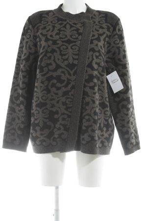 Ancora Gilet tricoté noir-gris brun motif aztèque élégant