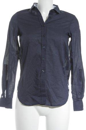 and camicie Shirt met lange mouwen donkerblauw klassieke stijl