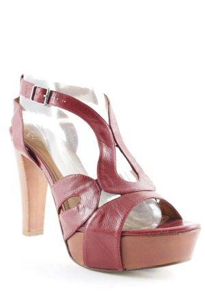 Andare High Heel Sandaletten hellbraun-dunkelrot Elegant