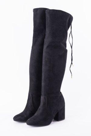 ANDERE MARKEN - Overknee-Stiefel mit Schnürung Schwarz