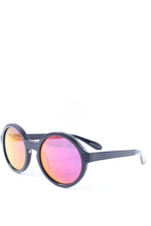 Anderne runde Sonnenbrille schwarz-himbeerrot Street-Fashion-Look