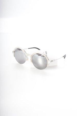 Anderne Sonnenbrille silberfarben extravaganter Stil