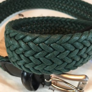 Braided Belt petrol cotton