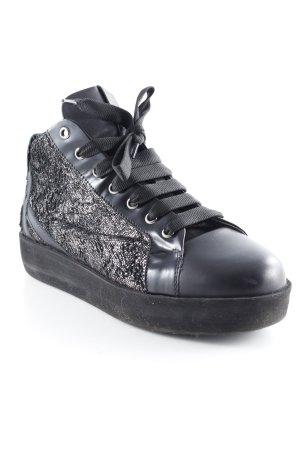 Andia Fora Sneaker stringata nero-bronzo stile da moda di strada