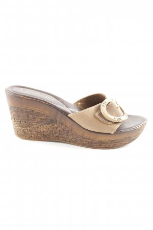 Andiamo Heel Pantolettes brown casual look