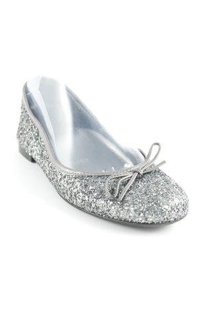 Andiamo Foldable Ballet Flats dark grey-silver-colored glittery