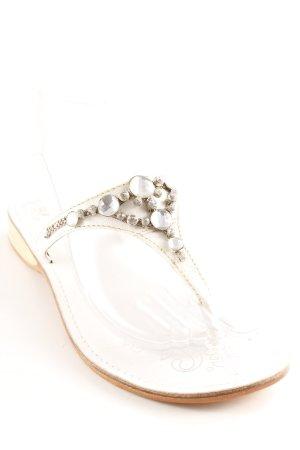 Andiamo Chanclas blanco-color plata elegante