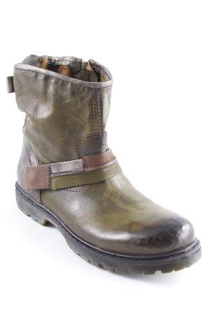 Andiamo Reißverschluss-Stiefeletten olivgrün Street-Fashion-Look