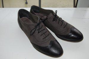 Budapest schoenen zwart-grijs Leer