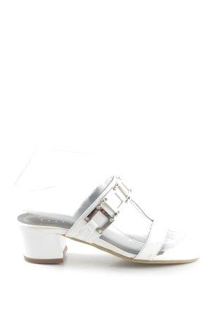 Andrea Conti Zomerschoenen met hak wit-zilver casual uitstraling