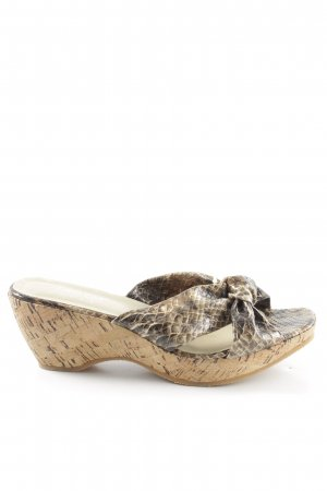 Andrea Conti Clog Sandals natural white-black animal pattern casual look