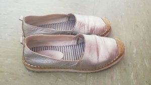 Andrea Conti Espadrille Sandals silver-colored leather