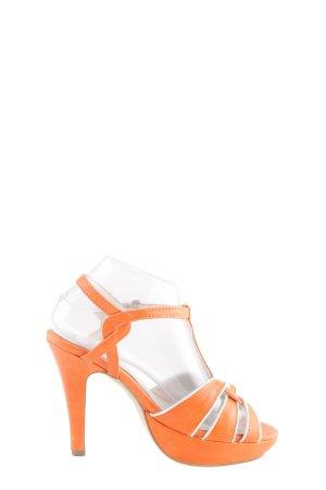 Andrea Conti High Heel Sandaletten hellorange-weiß Casual-Look