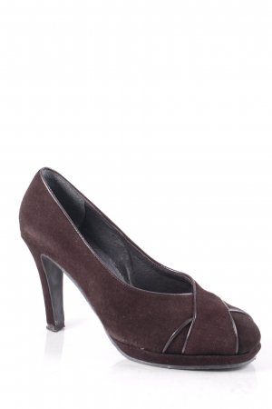 Andrea Conti High Heels dunkelbraun klassischer Stil