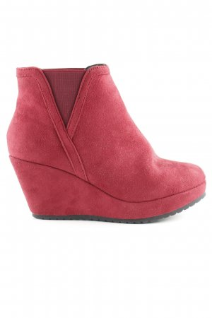 Andrea Conti Wedge Booties dark red casual look
