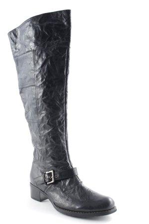 Andrea Conti Kniehoge laarzen zwart wetlook
