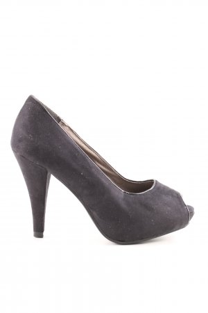 Andrea Conti Peeptoe Pumps schwarz Business-Look