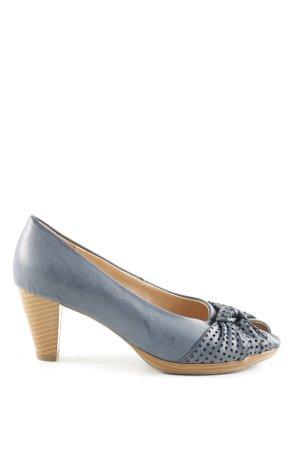Andrea Conti Peep Toe Pumps blauw elegant